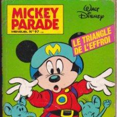 Cómics: MICKEY PARADE ···· Nº 97 ····LE TRIANGLE DE L¨ EFFROI ···· COMIC ESCRITO EN FRANCES .. Lote 57280518