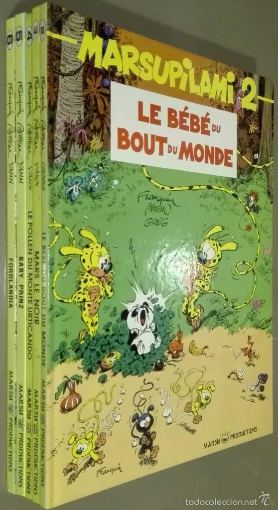 MARSUPILAMI. NÚMEROS 2 – 3 – 4 – 5 – 6. EN FRANCÉS. MARSU PRODUCTIONS. 1ª EDICIÓN. MUY BUEN ESTADO! (Tebeos y Comics - Comics Lengua Extranjera - Comics Europeos)