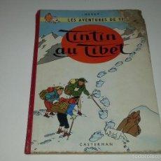 Cómics: TINTIN - TINTIN AU TIBET - CASTERMAN - HERGÉ - BELGICA AÑO 1960 TEXTO EN FRANCES. Lote 191496577