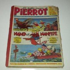 Cómics: LES BELLES IMAGES DE PIERROT ALBUM AÑO 2 10 NUMEROS DEL 30 AL 40 ED. MONTSOURIS NANO ET NANETTE 1953. Lote 58583217