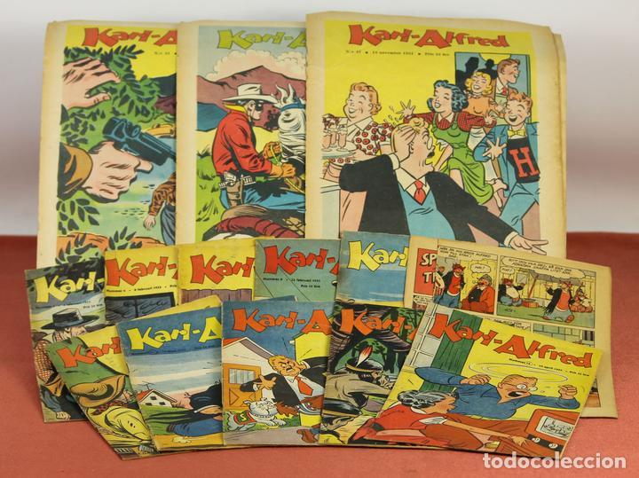 7986 - KARL-ALFRED. APAISADO EN GRAPA. 15 COMICS. (VER DESCRIPCIÓN). VV. AA. 1951-1953. (Tebeos y Comics - Comics Lengua Extranjera - Comics Europeos)