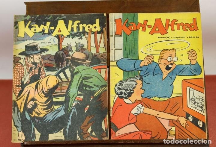 Cómics: 7986 - KARL-ALFRED. APAISADO EN GRAPA. 15 COMICS. (VER DESCRIPCIÓN). VV. AA. 1951-1953. - Foto 8 - 61473959