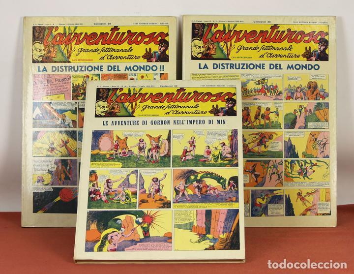 7992 - L'AVVENTUROSO. FACSÍMILES. 64 EJEM. EN 3 TOMOS(VER DESCRIP). EDIT. NERBINI. 1973/74. (Tebeos y Comics - Comics Lengua Extranjera - Comics Europeos)