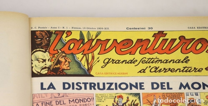 Cómics: 7992 - LAVVENTUROSO. FACSÍMILES. 64 EJEM. EN 3 TOMOS(VER DESCRIP). EDIT. NERBINI. 1973/74. - Foto 4 - 61714768