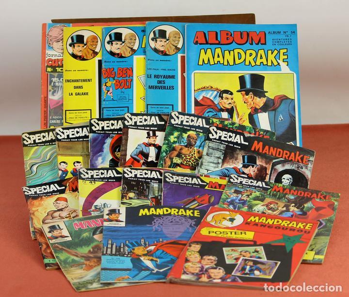 7993 - MANDRAKE. 21 EJEMPLARES. (VER DESCRIPCIÓN). R. VIOLA. EDIT. REMPARTS. 1949-1975. (Tebeos y Comics - Comics Lengua Extranjera - Comics Europeos)