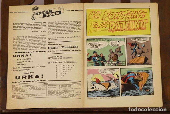 Cómics: 7993 - MANDRAKE. 21 EJEMPLARES. (VER DESCRIPCIÓN). R. VIOLA. EDIT. REMPARTS. 1949-1975. - Foto 35 - 61723812