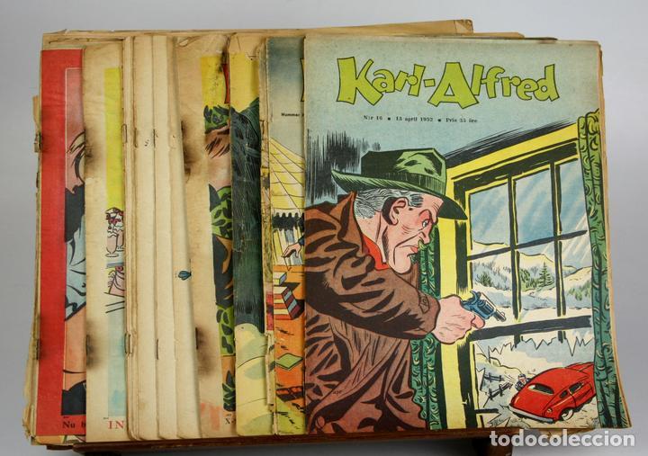 8019 - REVISTA COMIC KARL-ALFRED. 20 EJEMPLARES(VER DESCRIP). AÑOS 50. (Tebeos y Comics - Comics Lengua Extranjera - Comics Europeos)
