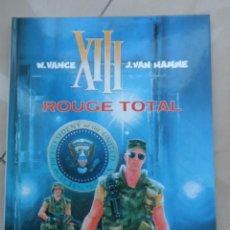 Cómics: XIII Nº 5 ROUGE TOTAL EN FRANCÉS - POSIBLE ENVÍO GRATIS - DARGAUD - W.VANCE & J.VAN HAMME. Lote 65343495