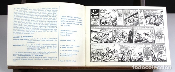 Cómics: 8149 - GIM TORO. 32 EJEMPLARES. (VER DESCRIPCIÓN). EDIC. GRANDI AVVENTURE. 1975. - Foto 7 - 65454790