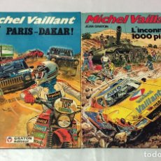 Cómics: MICHEL VAILLANT JEAN GRATON PARIS DAKAR ET L´INCONNU DES 1000 PISTES FLEURUS 1982 ORIGINAL FRANCES. Lote 67686969