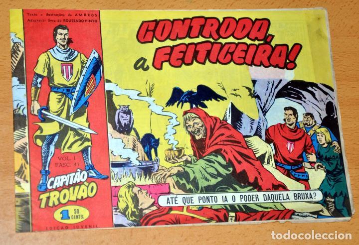 EL CAPITÁN TRUENO EN PORTUGUÉS - CUADERNILLO Nº 43 - EDITADO EN PORTUGAL - CAPITAO TROVAO - AÑO 1959 (Tebeos y Comics - Comics Lengua Extranjera - Comics Europeos)