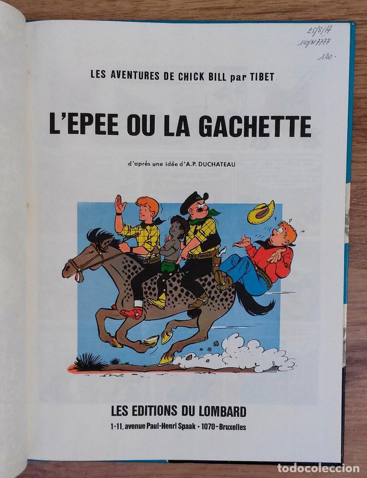 Cómics: Les aventures de Chick Bill par Tibet - Montana Kid - Editions du Lombard 1977 PRIMERA EDICION - Foto 3 - 73936775