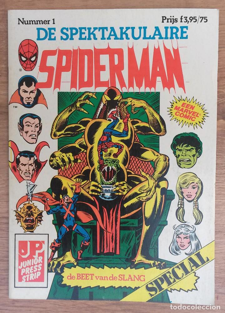 SPIDERMAN DE SPEKTAKULAIRE LOTE 8 PRIMEROS NUMEROS -TAPA SEMIDURA JUNIOR PRESS STRIP 1983 (Tebeos y Comics - Comics Lengua Extranjera - Comics Europeos)