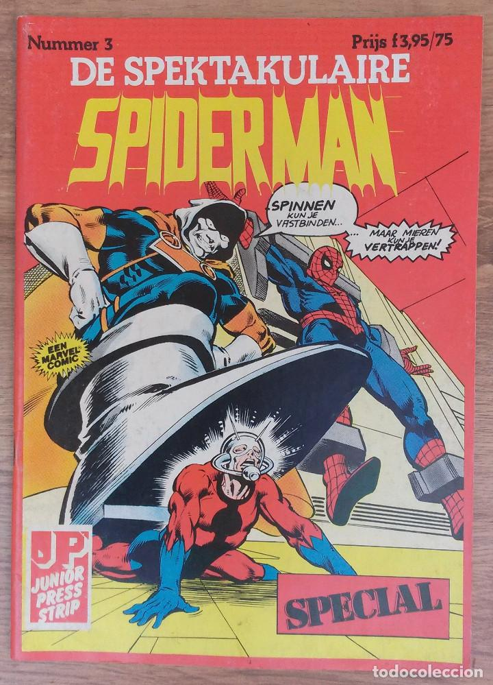 SPIDERMAN DE SPEKTAKULAIRE NUMERO 3 -TAPA SEMIDURA JUNIOR PRESS STRIP 1983 (HOLANDES) (Tebeos y Comics - Comics Lengua Extranjera - Comics Europeos)