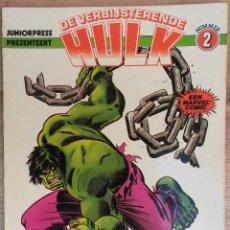 Cómics: HULK TAPA SEMIDURA 50 PAGINAS COLOR- JUNIOR PRESS STRIP 1979 (HOLANDES). Lote 74041443