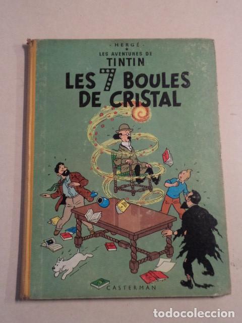 TINTIN LES 7 BOULES DE CRISTAL - AÑO 1963 - HERGÉ (Tebeos y Comics - Comics Lengua Extranjera - Comics Europeos)