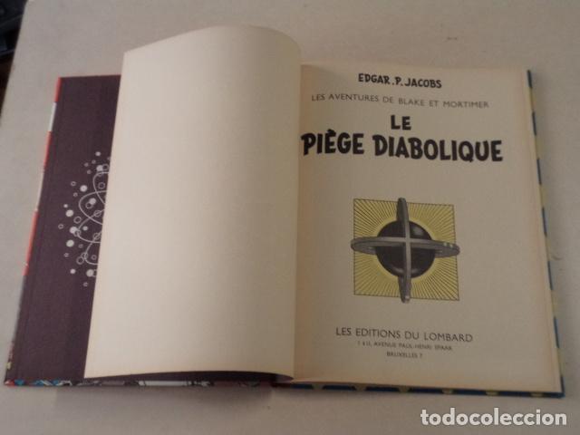 Cómics: LE PIÈGE DIABOLIQUE - BLAKE & MORTIMER - AÑO 1962 - 1ª EDICIÓN - EDGAR P. JACOBS - Foto 3 - 77338669