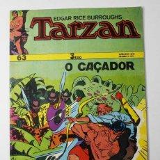 Cómics: CURIOSO COMIC PORTUGUES TARZAN Nº 63 O CAÇADOR, SUPLEMENTO DO MUNDO DE AVENTURAS 1974 32 PAGINAS . Lote 77515501