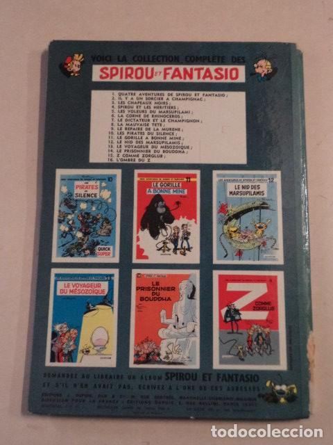 Cómics: L'OMBRE DU Z - SPIROU ET FANTASIO Nº 16 - AÑO 1962 - 1ª EDICIÓN - FRANQUIN - Foto 7 - 77909097