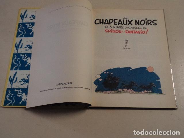 Cómics: LES CHAPEAUX NOIRS - SPIROU ET FANTASIO Nº 3 - AÑO 1964 - FRANQUIN - Foto 4 - 77909417