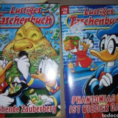 Cómics: LUSTIGES TASHENBUCH 2 TOMOS COMIC DISNEY EN ALEMÁN. Lote 81108687