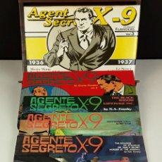 Cómics: AGENTE SECRETO X-9. 5 EJEMPLARES FACSÍMIL(VER DESCRIP). VV. AA. VARIOS IDIOMAS. VV. EDIT. 1974/1981.. Lote 83303560