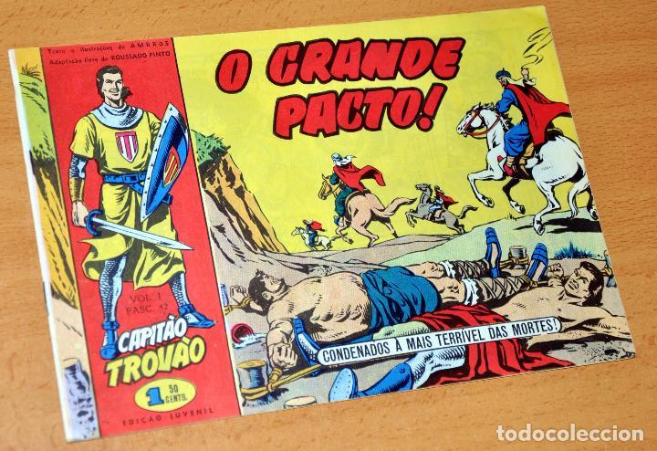 EL CAPITÁN TRUENO EN PORTUGUÉS - CUADERNILLO Nº 42 - EDITADO EN PORTUGAL - CAPITAO TROVAO - AÑO 1959 (Tebeos y Comics - Comics Lengua Extranjera - Comics Europeos)