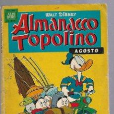 Cómics: ALMANACCO TOPOLINO. AGOSTO. WALT DISNEY. Nº 8. 1962. ITALIANO. Lote 89826724