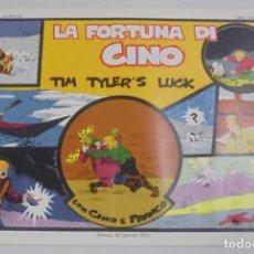 Cómics: SERIE CINO E FRANCO. LA FORTUNA DI CINO. TIM TYLER'S LUCK. TIRAS DIARIAS 12/1/1931 AL 28/2/1931. Lote 90392452