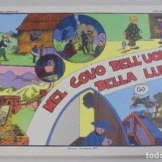 Cómics: SERIE CINO E FRANCO. NEL COVO DELL'UOMO DELLA LUNA. TIRAS DIARIAS 2/3/1931 AL 29/6/1931. Lote 90392700