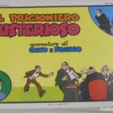 Cómics: SERIE CINO E FRANCO. IL PRIGIONIERO MISTERIOSO. TIRAS DIARIAS 12/6/1929 AL 13/8/1929. Lote 90393960