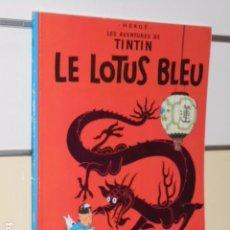 Cómics: LES AVENTURES DE TINTIN LE LOTUS BLEU (EL LOTO AZUL) EN FRANCES - EDICIONES DEL PRADO- EDICION 1974. Lote 92939890