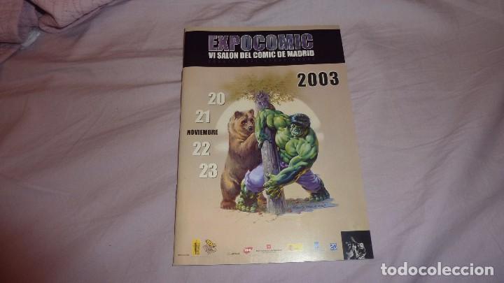 Cómics: EXPOCOMIC 2003 MADRID. REVISTA OFICIAL COMPLETA. EXCELENTE ESTADO - Foto 3 - 94414326
