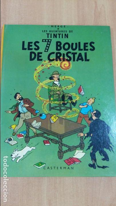 LES AVENTURES DE TINTIN. LES 7 BOULES DE CRISTAL. CASTERMAN. 1983. VER FOTOS (Tebeos y Comics - Comics Lengua Extranjera - Comics Europeos)