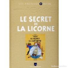 Cómics: LES ARCHIVES ATLAS TINTIN. LE SECRET DE LA LICORNE (FRANCÉS) HERGÉ. Lote 99220799