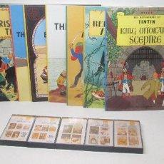 Cómics: TINTIN 12 COMICS + 5 CINTAS DE CASETE, EN INGLÉS-CURSO STUDY COMICS-EDICIONES DEL PRADO-1988. Lote 97515291