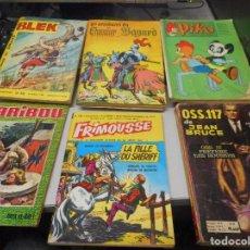 Cómics: LOTE COMIC EN FRANCES AÑOS 60 CARIBOU 77 PIKO 23 CHEVALIER BAYARD 9 BLEK 90 FRIMOUSE 155 . Lote 100421215