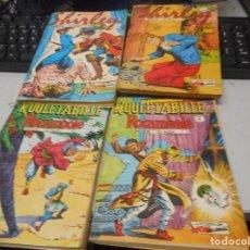 Cómics: LOTE COMIC EN FRANCES AÑOS 60 SHIRLEY 38 44 ROULETABILLE ROCAMBOLE 30 34. Lote 100422783