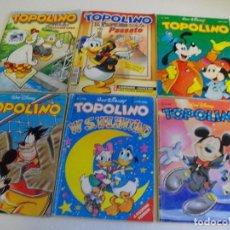 Cómics: PRECIOSO LOTE DE 6 COMICS TOPOLINO - WALT DISNEY EDITOR ARNOLDO MONDADONI VER TODOS MIS COMICS. Lote 103815003