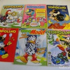 Cómics: PRECIOSO LOTE DE 6 COMICS TOPOLINO - WALT DISNEY EDITOR ARNOLDO MONDADONI VER TODOS MIS COMICS. Lote 103815043