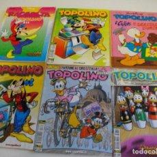 Cómics: PRECIOSO LOTE DE 6 COMICS TOPOLINO - WALT DISNEY EDITOR ARNOLDO MONDADONI VER TODOS MIS COMICS. Lote 103815079