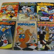 Cómics: PRECIOSO LOTE DE 6 COMICS TOPOLINO - WALT DISNEY EDITOR ARNOLDO MONDADONI VER TODOS MIS COMICS. Lote 103815099