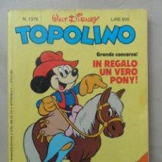 Cómics: TOPOLINO NRO 1376 - AÑO 1982 - EN ITALIANO. Lote 103836195
