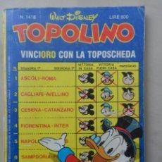 Cómics: TOPOLINO NRO 1418 - AÑO 1983 - EN ITALIANO. Lote 103836291