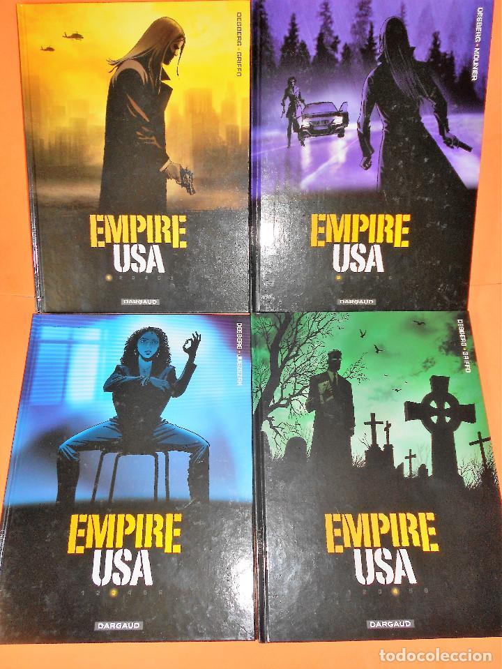 EMPIRE USA. DESBERG & GRIFFO. EDICIÓN EN FRANCÉS. DARGAUD. CUATRO TOMOS . MUY BUEN ESTADO. (Tebeos y Comics - Comics Lengua Extranjera - Comics Europeos)