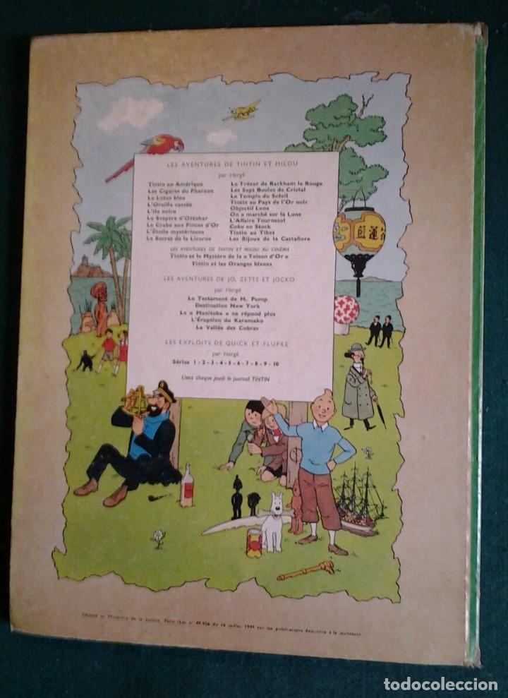 Cómics: TINTIN ON A MARCHÉ SUR LA LUNE ED.1966.CASTERMAN HERGÉ. - Foto 2 - 114423899