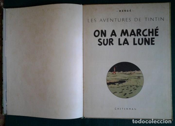 Cómics: TINTIN ON A MARCHÉ SUR LA LUNE ED.1966.CASTERMAN HERGÉ. - Foto 3 - 114423899
