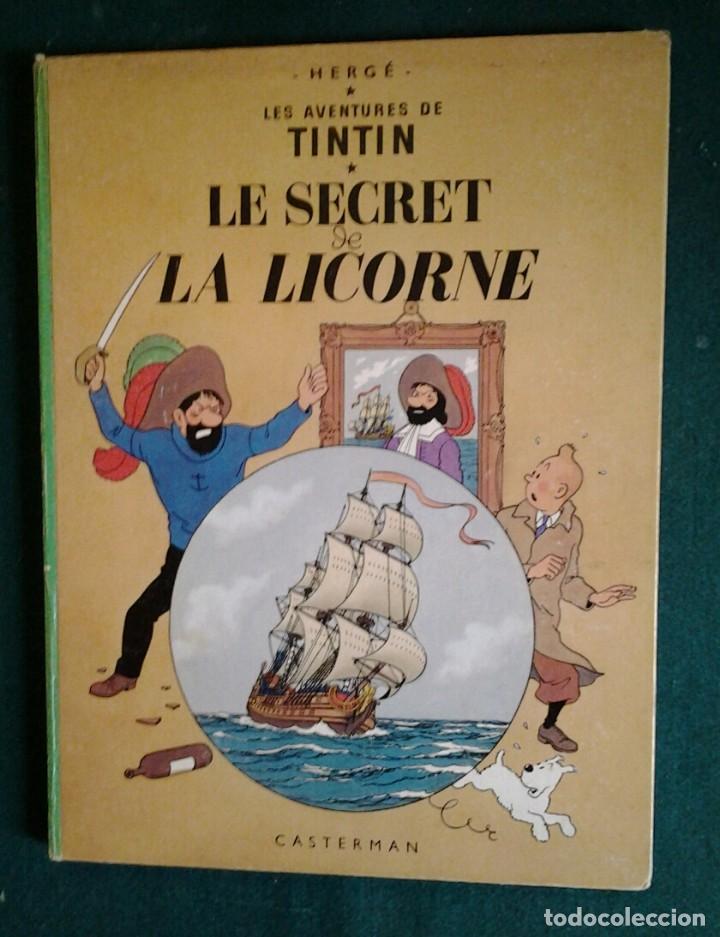 TINTIN LE SECRET DE LA LICORNE ED.1965.CASTERMAN HERGÉ. (Tebeos y Comics - Comics Lengua Extranjera - Comics Europeos)