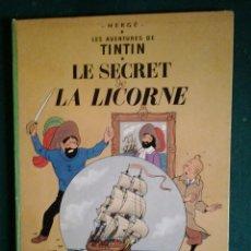 Cómics: TINTIN LE SECRET DE LA LICORNE ED.1965.CASTERMAN HERGÉ.. Lote 114427455