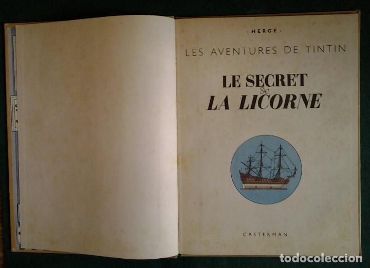 Cómics: TINTIN LE SECRET DE LA LICORNE ED.1965.CASTERMAN HERGÉ. - Foto 3 - 114427455